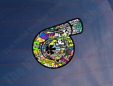 TURBO STICKER BOMB Full Colour Car/Van/Window/Bumper/Laptop Printed Sticker