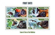 Maldives - 2013 Fruit Bats - 4 Stamp Sheet - 13E-044