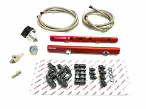 Aluminum Fuel Injection Rail Red + Hoses For Ford 1986-1995 Mustang 5.0L By OBX