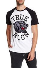 True Religion Mascot Raglan Tee White-Black L NWT