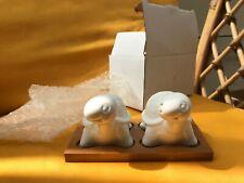 Bianco cuore set sale e pepe con supporto in bamb/ù