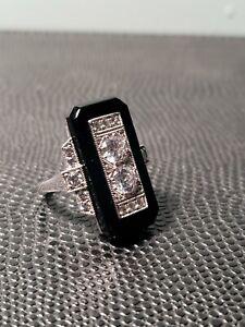 Antique Black Onyx Ring