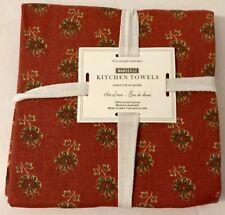 William Sonoma Kitchen Towels Autumn motif 100% Cotton