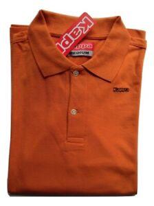 Polo Kappa uomo manica lunga cotone 100% col: Bianco e Arancione