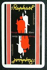 1 x Joker playing card single swap Drink St Raphael Quinquina Rouge Blanc AD217