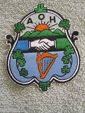 Ancient Order Of Hibernians Member Crest Patch Irish Shamrocks Harp Design AOH