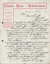PIRMASENS, Brief 1912, Pirmasenser Stapelsachen Gustav Ross