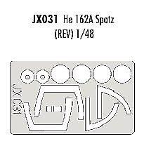 Eduard 1/32 Heinkel He 162A Pintura Máscara Para Revell # JX031