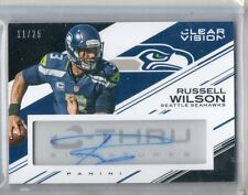 """Russell Wilson Auto #/25 """"C-Thru Signatures"""" Autograph 2015 Panini Clear Vision"""