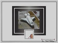 Piece of envelope SPACE FLOWN aboard SPACE SHUTTLE CHALLENGER 25th yr of NASA