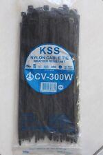 100 HEAVY DUTY 7.6mm x 300mm cable zip ties nylon UV resistant 55KG strength KSS