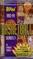 Topps-1993-94-NBA Trading Cards 7 Sealed Packs-Series 1