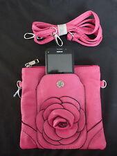 Fushia de moda Bolso de Hombro con Compartimento de teléfono móvil
