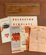 Visor Organizer, 1963 Albuquerque 1950 Houston Map, Galveston Demolays, Vintage