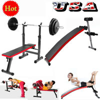 Adjustable Weight/ Sit up Bench Crunch Board Durable Fitness Home Gym Exercise