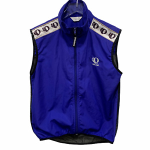 Pearl Izumi Size M Zephrr Barrier Active Cycling Vest Blue Black Mesh Back Women
