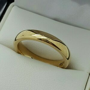 9ct Yellow Gold Heavy 3.5mm Plain Charles Green Wedding Band, Finger Size O