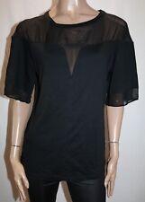 ROBERT RODRIGUEZ Brand Black Short Sleeve Top Size 8 LIKE NEW #AN02