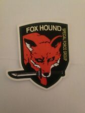 "Metal Gear Solid Fox Hound Special Forces Decal Sticker (3""x 3"") - Konami MGS"