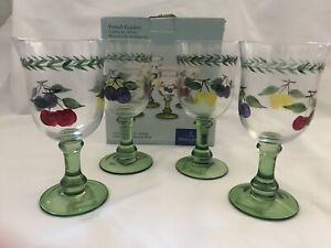 NEW IN BOX Villeroy & Boch French Garden Stemware Set of 4 Goblets