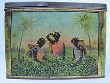 Antique Thomas Lipton Tea Coffee Cocoa Planter Tin Litho plantation workers