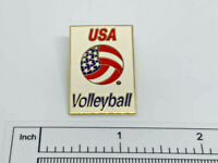 USA Volleyball American Flag Vintage Enamel Pin
