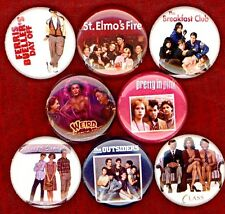 Brat Pack 8 pins buttons breakfast club pretty in pink outsiders sixteen candles