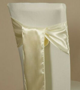 PACK OF 125 Satin Chair Cover Sash Bow Sashes Wedding Banquet decor - FREE SHIP