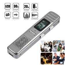 8GB Digital Voice Sound Recorder MIC Stereo VOR Dictaphone Meeting Music Player