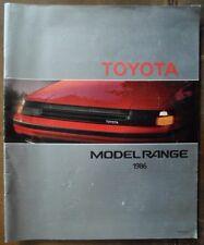 TOYOTA RANGE 1986 UK Mkt Large Brochure - MR2 Celica Supra GT Camry Land Cruiser