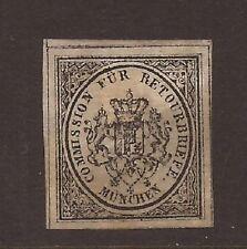1865 GERMAN COMMISSION FUR RETOURBRIEFE MUNCHEN STAMP