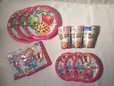 SHOPKINS Birthday Party Supplies for 24: 24 Cups 32 Napkins 24 Sm & 24 Lg Plates