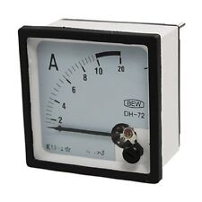1×AC 10A Screw Mounted Square Analog Panel AMP Current Meter Ammeter DH-72