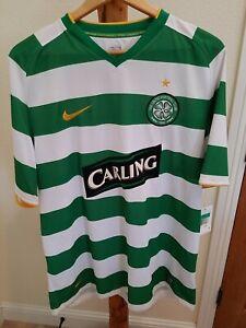 NWT Celtic Carling Nike Fit Football Club Jersey Shirt Men XL Green White Stripe