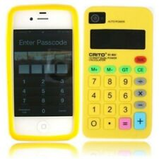 Calculator Novelty Design iPhone 4/4s Silicone Case - YELLOW