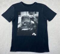 The Nike Tee Barbershop Men's Short Sleeve Black T Shirt size Medium