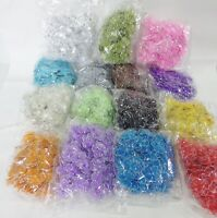 Wholesale pack of 100 Organza Gauze Glitter FLOWERS 25mm diameter 15 Colours