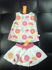 NEW GYMBOREE FRUIT PUNCH SHIRT SKIRT WITH DIAPER COVER 12-18 MONTHS FRUIT SLICES