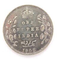 .1903 INDIA 1 RUPEE. 917 SILVER COIN. CIRC CONDITION.