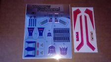 A Transformers premium quality replacement sticker sheet for G1 Thundercracker