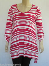 Autograph Plus Size Striped Tops and Blouses for Women