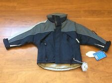 NEW Snozu Boy winter ski snowboard lined zip Jacket Small 8 Navy Grey 854110
