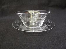 WEBB CORBETT INTAGLIO FINGER BOWL AND UNDER PLATE # 3