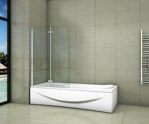 Badewannenaufsatz 2-teilig für Badewanne 6mm ESG Duschwand Duschabtrennung  NANO