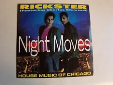 """RICKSTER feat Charles Steward : Night Moves - 7"""" 45T 1988 ON THE BEAT OTB 1370"""