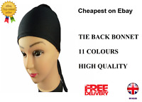 TIE BACK BONNET Cap for Hijab Head Scarf Chemo Underscarf Plain Many Colours