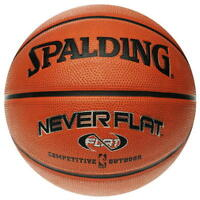 Spalding NBA Neverflat Official Composite Leather Indoor/Outdoor Basketball