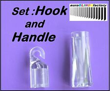 SET FOR VENETIAN BLIND CONTROL WAND - ROD – HOOK and HANDLE - PRIORITY DELIVERY