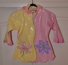 Kidorable Kids Toddler Girls Lotus Flower Rain Coat, Size 4/5