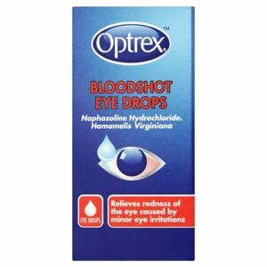 OPTREX Bloodshot Eye Drops 10ml - Relief Red ness From Dust Smoke Swimming